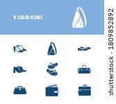 bags icon set and computer bag...
