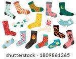 trendy socks. cotton stylish...   Shutterstock .eps vector #1809861265