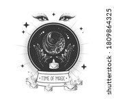 witchcraft magic globe... | Shutterstock .eps vector #1809864325