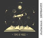 modern magic witchcraft open... | Shutterstock .eps vector #1809864355