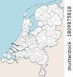 detailed vector map of...   Shutterstock .eps vector #1809875818