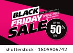 black friday sale poster layout ... | Shutterstock .eps vector #1809906742