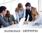 group of business partners... | Shutterstock . vector #180990956