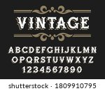 vintage font in wild west style....   Shutterstock .eps vector #1809910795