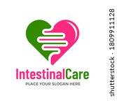 intestinal care vector logo... | Shutterstock .eps vector #1809911128