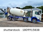 Concrete Mixer Truck On...