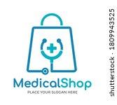 medical shop vector logo...   Shutterstock .eps vector #1809943525