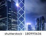 modern buildings of the city at ... | Shutterstock . vector #180995636