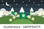 beauty night landscape mountain ... | Shutterstock .eps vector #1809956575