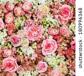 Stock photo beautiful flowers background for wedding scene 180996368