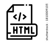 front end html code icon vector....   Shutterstock .eps vector #1810009105