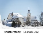 Mountain Church In Winter On...