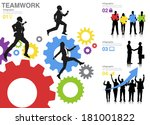 vector of business success and... | Shutterstock .eps vector #181001822