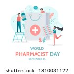 world pharmacist day. september ... | Shutterstock .eps vector #1810031122