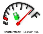 full fuel gauge illustration on ... | Shutterstock . vector #181004756