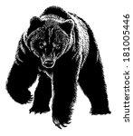 black scary bear | Shutterstock .eps vector #181005446