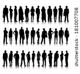 Collection of Standing Business People Vector