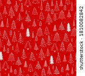 doodle christmas cute drawings... | Shutterstock .eps vector #1810082842