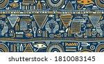 ancient egyptian ornament...   Shutterstock .eps vector #1810083145
