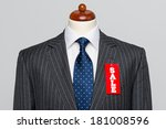 front view of a mens grey wool... | Shutterstock . vector #181008596