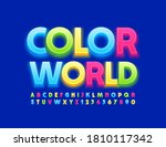 vector bright emblem color... | Shutterstock .eps vector #1810117342
