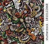 music hand drawn doodles... | Shutterstock .eps vector #1810122868