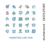 inbound marketing color thin... | Shutterstock .eps vector #1810129285
