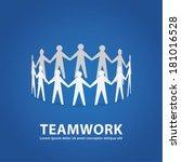 vector teamwork illustration.... | Shutterstock .eps vector #181016528