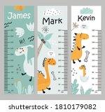 kids height chart. vector...   Shutterstock .eps vector #1810179082