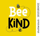 bee kind cute inspirational... | Shutterstock .eps vector #1810180432