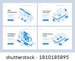 set of blue and white vector... | Shutterstock .eps vector #1810185895
