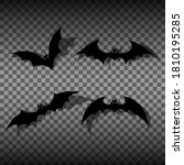Set Of Bats On An Isolated...