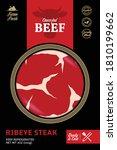 vector modern style beef...   Shutterstock .eps vector #1810199662