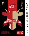 vector beef packaging or label...   Shutterstock .eps vector #1810199665