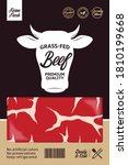 vector beef packaging or label...   Shutterstock .eps vector #1810199668