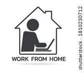 work from home during corona... | Shutterstock .eps vector #1810230712