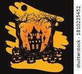 halloween scary forest castle... | Shutterstock .eps vector #1810235452