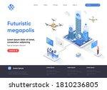 futuristic megapolis isometric... | Shutterstock .eps vector #1810236805
