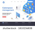 cyberspace management isometric ... | Shutterstock .eps vector #1810236838