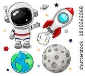 cute cartoon space set of... | Shutterstock .eps vector #1810262068