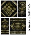 set of vintage invitations....   Shutterstock .eps vector #181026866