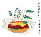 vector illustration. vegetable...   Shutterstock .eps vector #1810274815