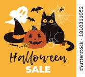 halloween sale square template... | Shutterstock .eps vector #1810311052
