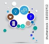 diagram of circles  template...   Shutterstock .eps vector #181031912