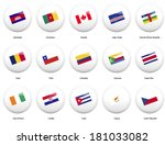 white pin badges with flag of... | Shutterstock .eps vector #181033082