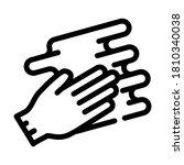 hand spreading cream line icon...   Shutterstock .eps vector #1810340038