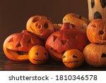 Group Of Spooky Pumpkins ...