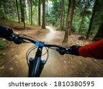 Mountain Biker Riding On Flow...