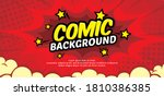 pop art comic background with...   Shutterstock .eps vector #1810386385