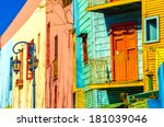 bright colors of caminito in la